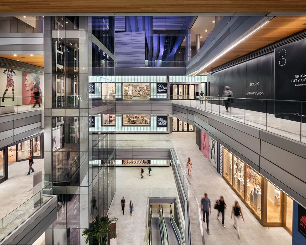 Climate Ribbon and commercial office space at Brickell City Centre
