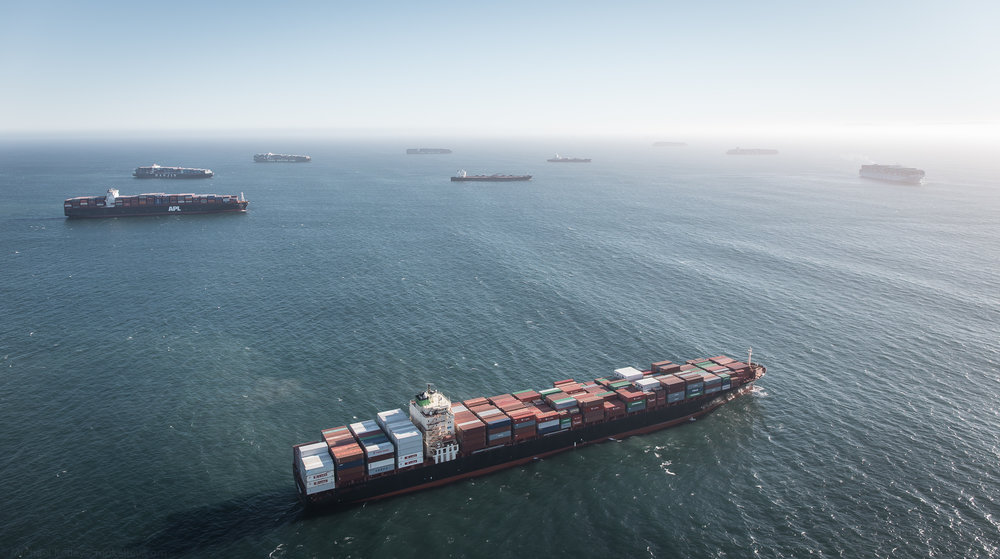 Cargo ships have been backed up for weeks on end at the ports of LA and Long Beach amid a labor dispute.