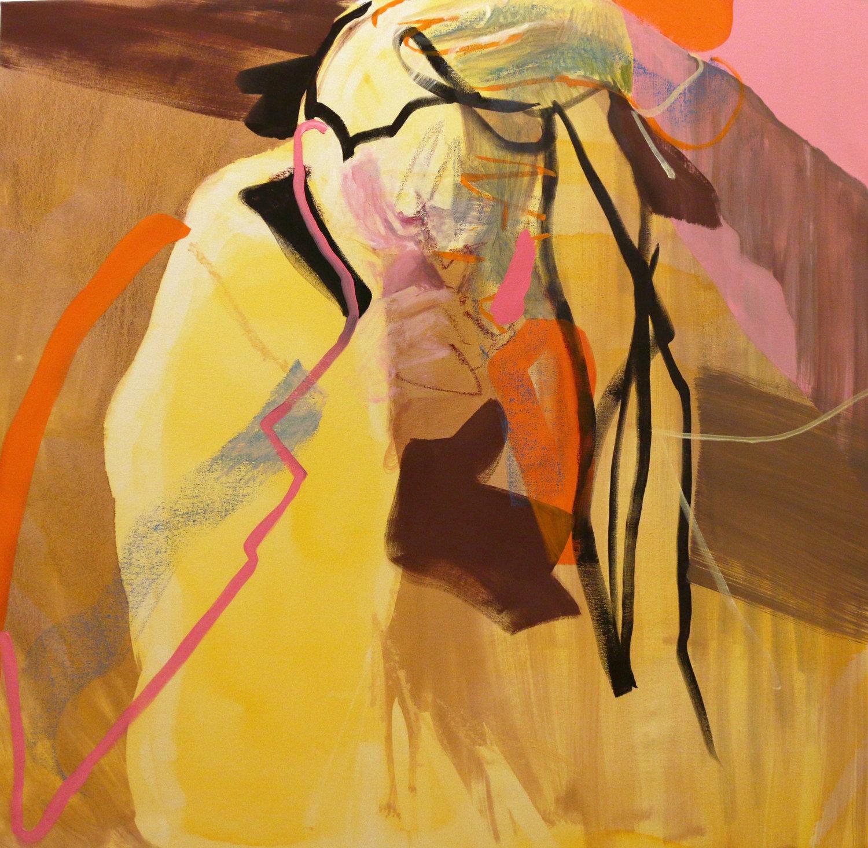Biting Bobby Pins, art by Gina Malek