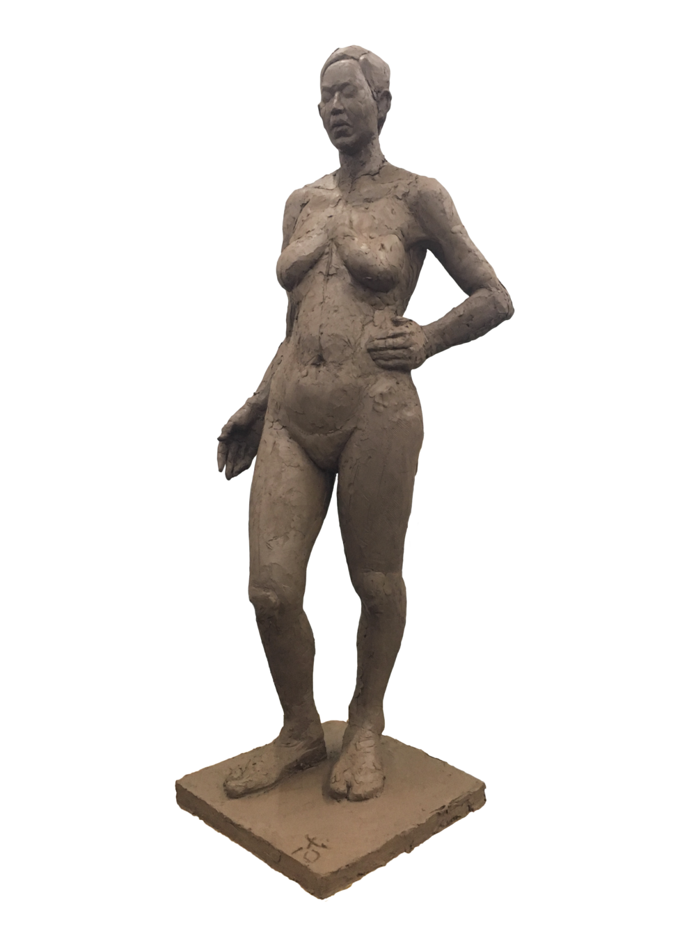 <Woman in a Pose>  450*450*1200mm  February, 2017  Clay