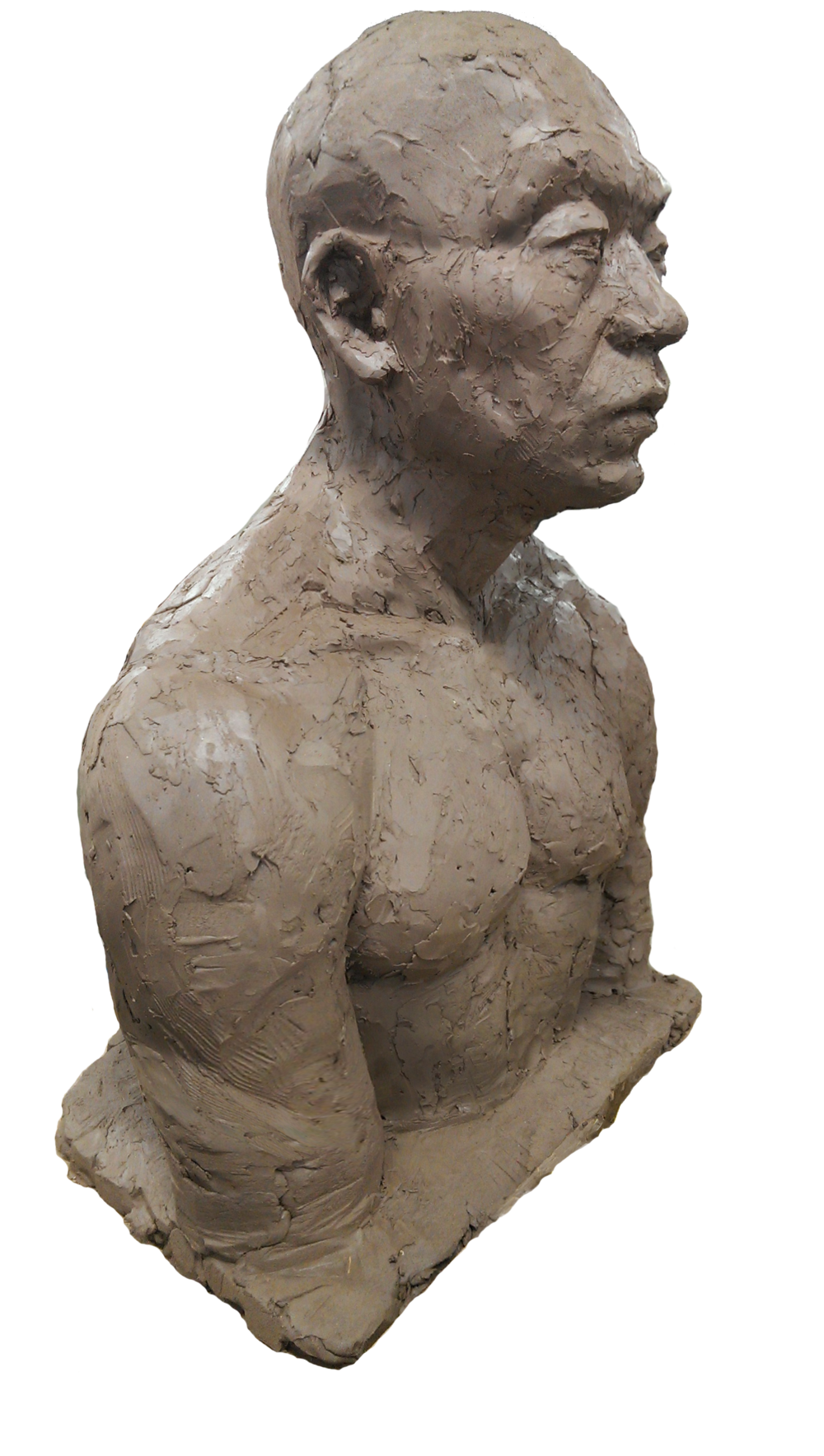 "<Figures of My Colleagues>  250*400""600mm, 400*400mm, 310*400mm  September, 2015  Clay"