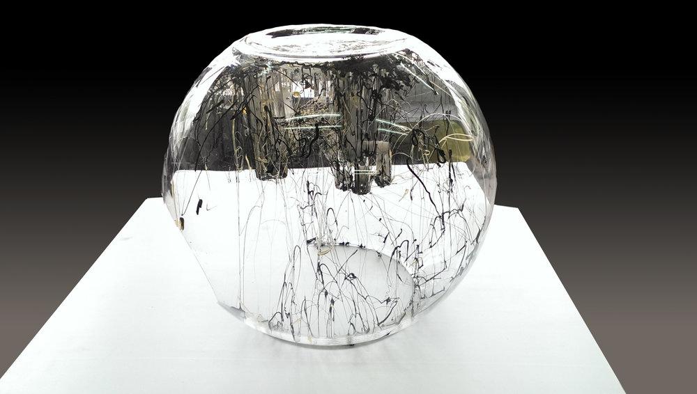 <Inside>  400*400*300mm  April, 2015  Hot glue, Fish Tank