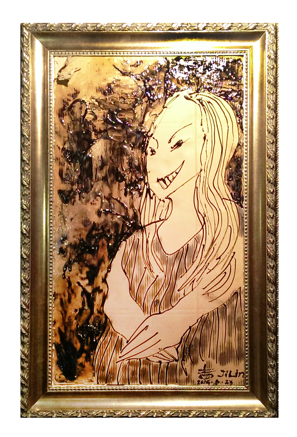 <Mona Lisa>  530*760mm  May,2015  Hot Glue