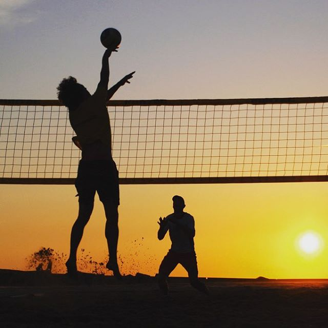 Sand Volleyball tonight at 7pm at Cottonwood Park, followed by drinks at Glass Half Full! Be there! #young adults #stjoseph #volleyball #drinks #thisstockphotopersoncanjump