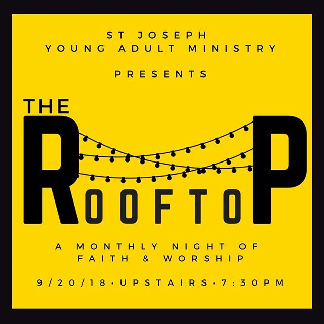 Tomorrow we kick off The Rooftop! This will be something you look forward to every month. Don't miss it! #youngadults #stringlights