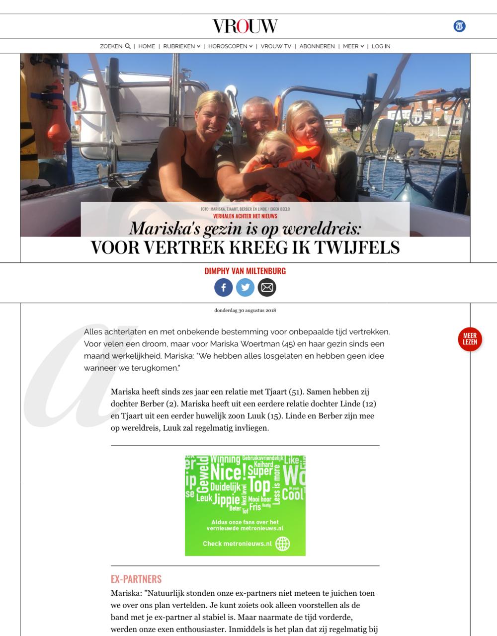 Op 30 augustus 2018 stonden we in de Telegraaf met een interview. Klik op de foto om het hele artikel te lezen.