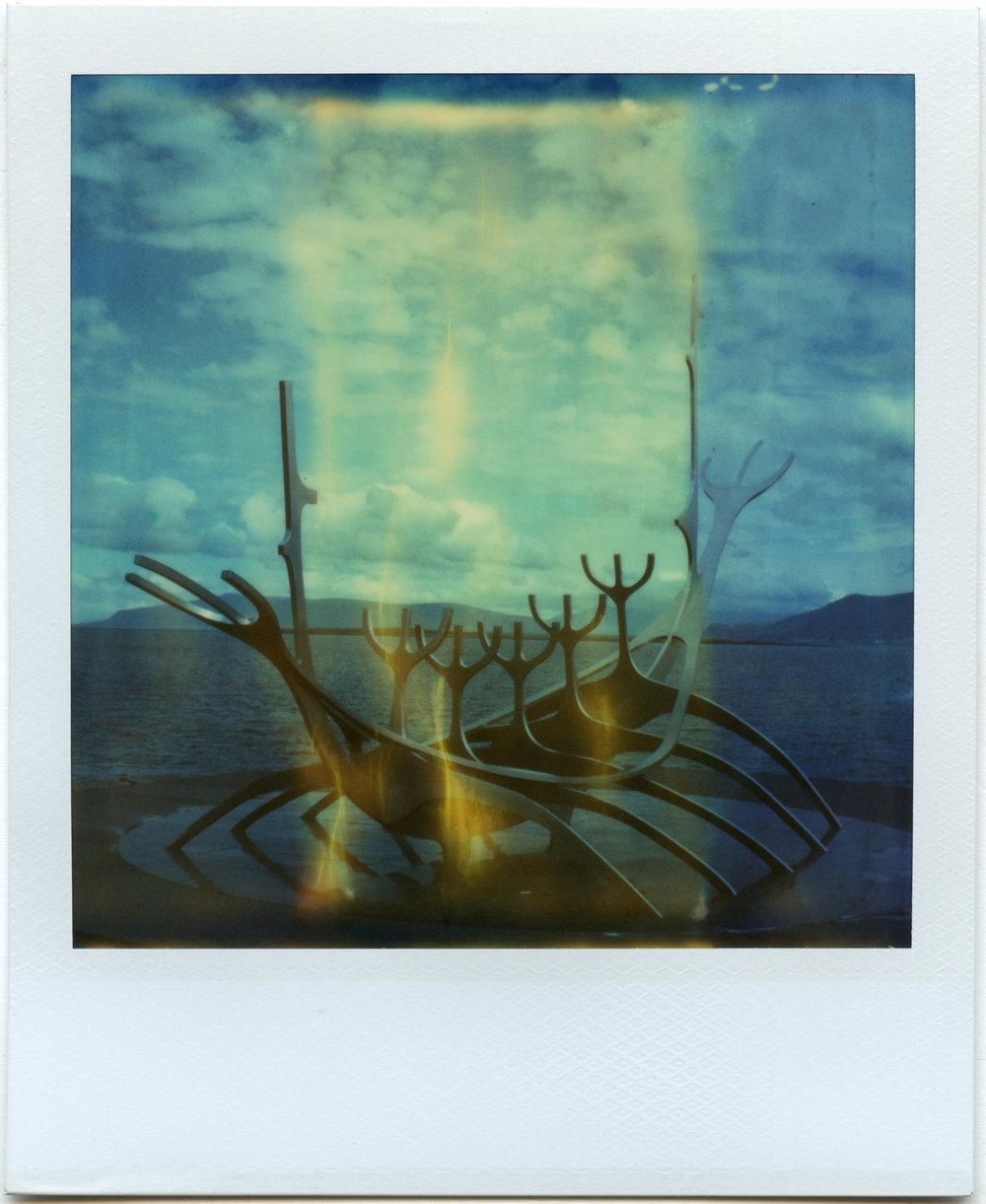 """""""Sólfar"""" - Expired Polaroid Time Zero Film - 2018"""