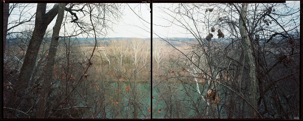 © Eliot Dudik,  Balls Bluff, Virginia , from the series  Broken Land -  photographed with Kodak Portra 160