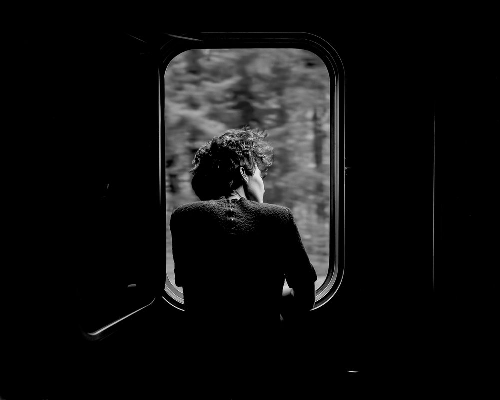 """MoniqueOn A Train"" bySteve Davis"