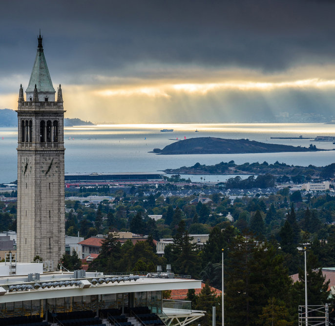 San Francisco Bay seen from UC Berkeley campus
