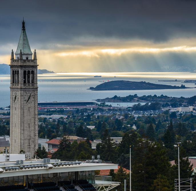 San Francisco Bay seen from UC Berkeley campus