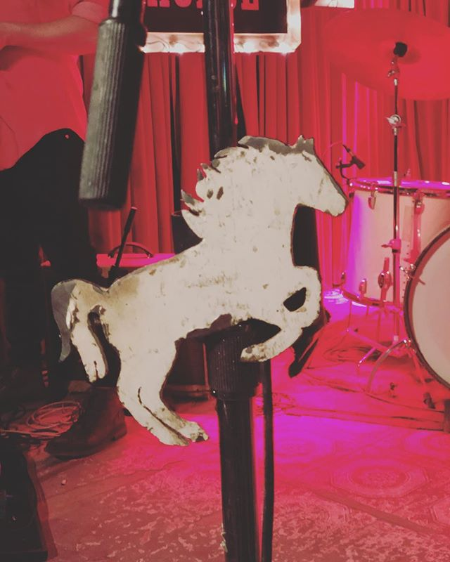 @whitehorseatx tonight at midnight for another residency show, darlings. last time I attempted to take a portrait-mode photo of THE white horse. this is the white horse. come listen and dance.