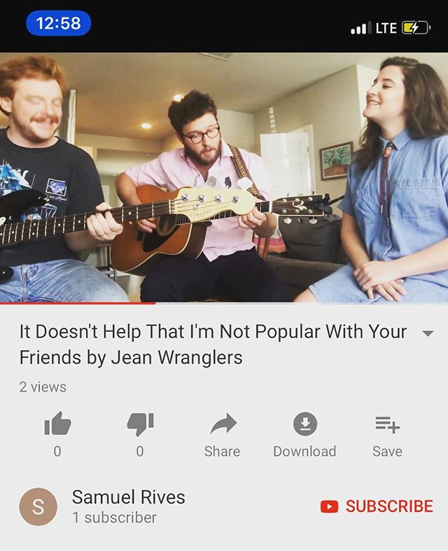 "y'all: happy holiday time. our humble gift to you is a short version of our song ""it doesn't help that i'm not popular with your friends,"" which we just put up on youtube. (link in bio.) we hope you like it and that you're surviving magnificently in these fraught but festive days. see you soon at the white horse and elsewhere💋"