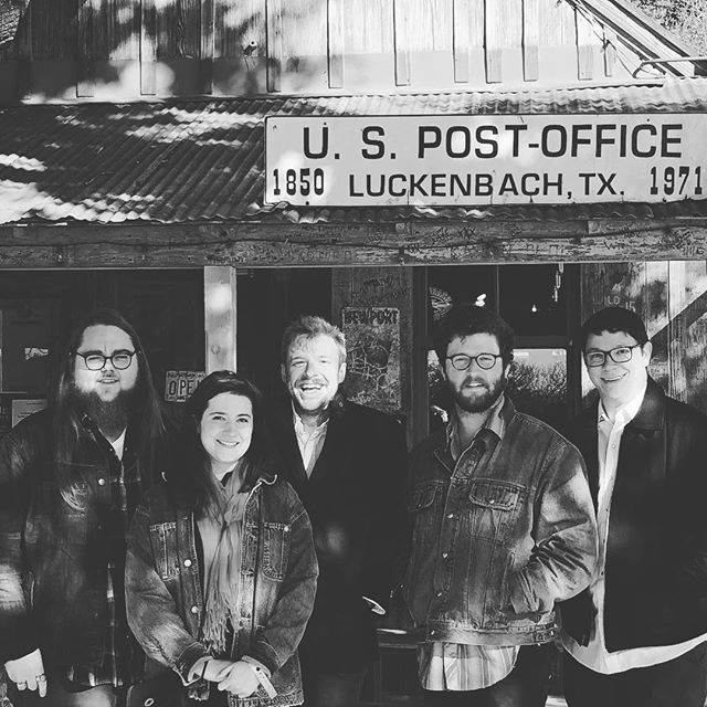 This gang of goofs played the @luckenbachtexas Blues Festival a week or so back, and now you have the chance to catch our returning heroes at the @whitehorseatx tonight at midnight. Come for the winning smiles, stay for the blistering grooves.  See you tonight,  shamp