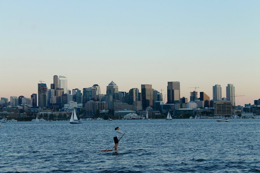 The view from Gasworks Park!