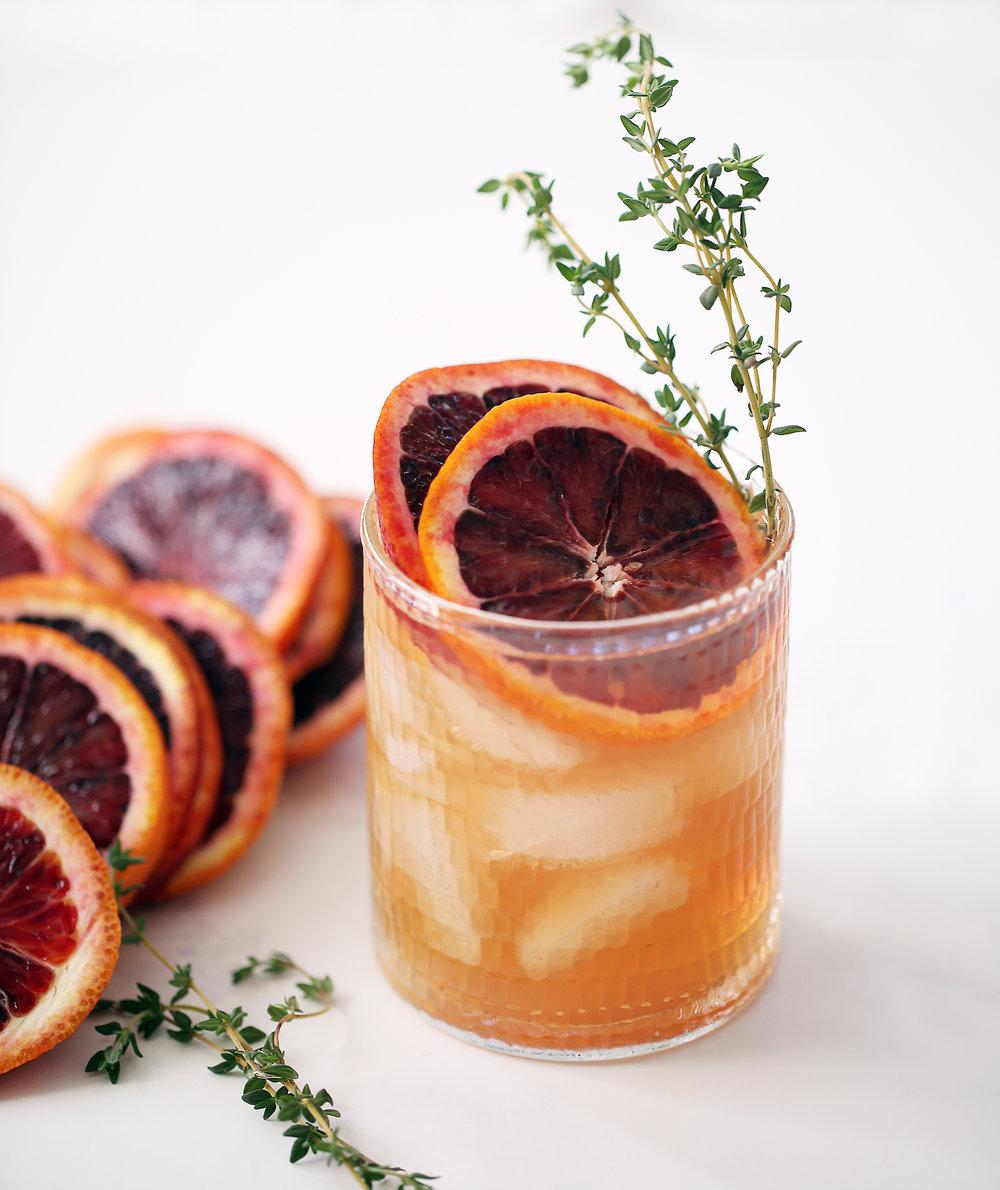 Blood Orange G&T - 1.5 oz gin2 oz blood orange juice0.5 oz &TonicTop with club soda
