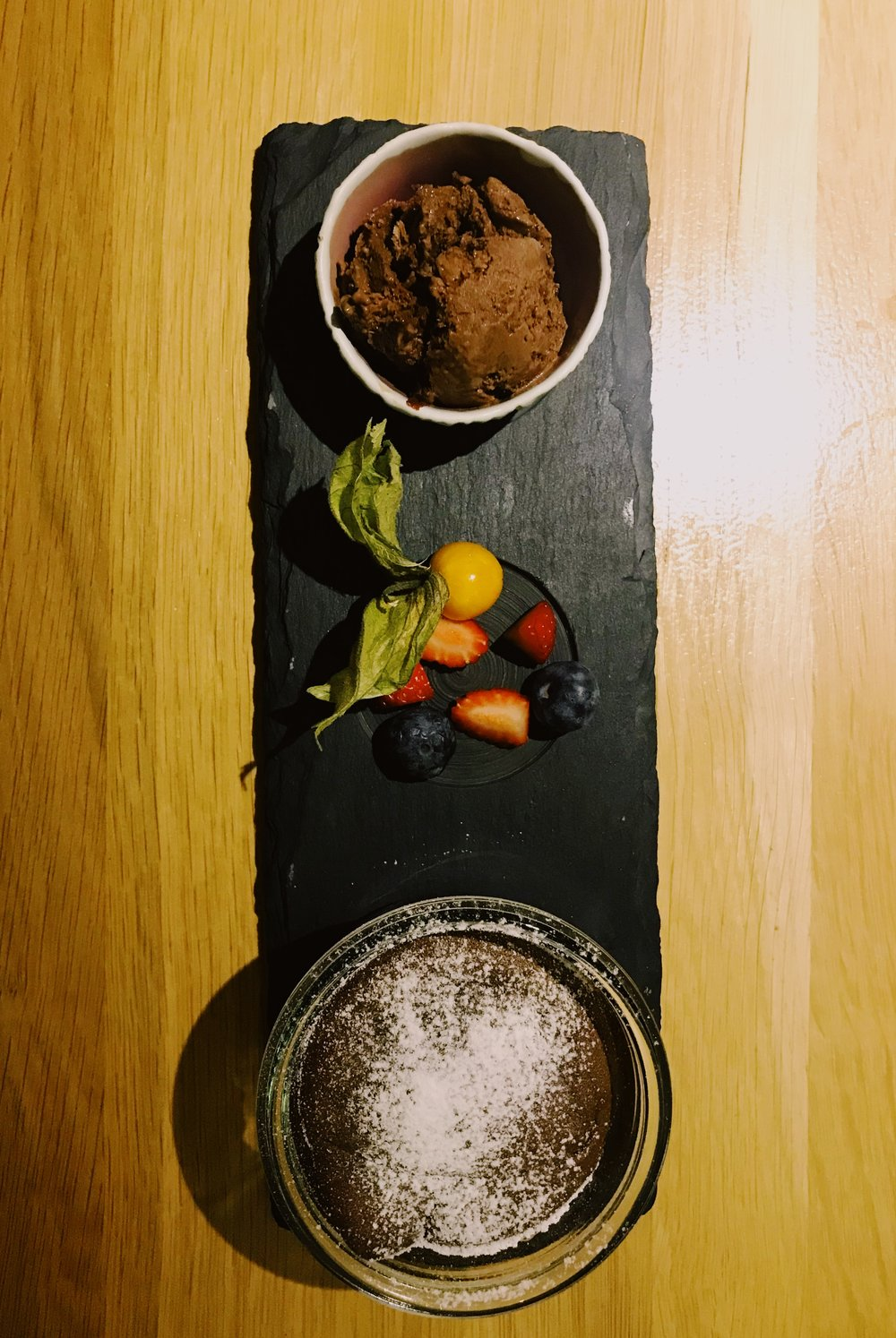 the GF chocolate souffle!! -