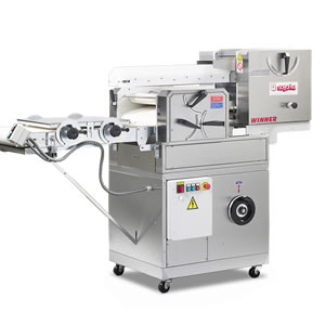 The Winner Dough Divider Moulder - The Winner Bread Moulder was designed specifically with small and medium sized production runs in mind. This moulder is ideal for small to medium size businesses. It is perfect for both soft and hard doughs, and is capable of producing a wide variety of rolls and other shapes. There is an anti-stretching device in place so that your dough is sure to be handled gently throughout the delicate process. Click here to Click Here To Request More Info or take a look at our Winner Dough Divider Moulder Cutsheet download.