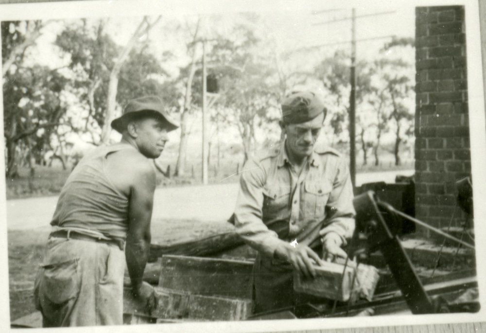 George Kosahiw working on the roads in Adelaide during his two-year contract with the government in the early 1950s.  PN03993 Migration Museum Collection