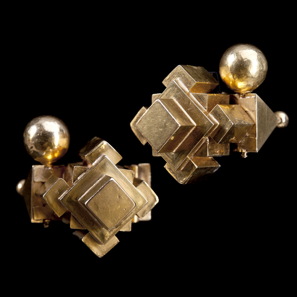 Gold Pampadam Earrings