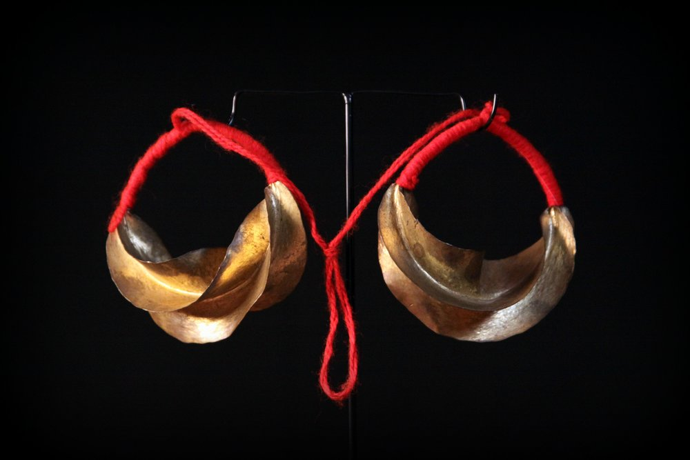 Late 20th Century 14 Karat Gold Kwottenai Kanye Fulani Earrings  - Mopti, Africa.jpg
