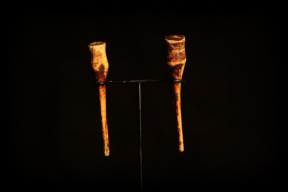 Antique Pre-Banned Ivory Earrings. Laos.jpg