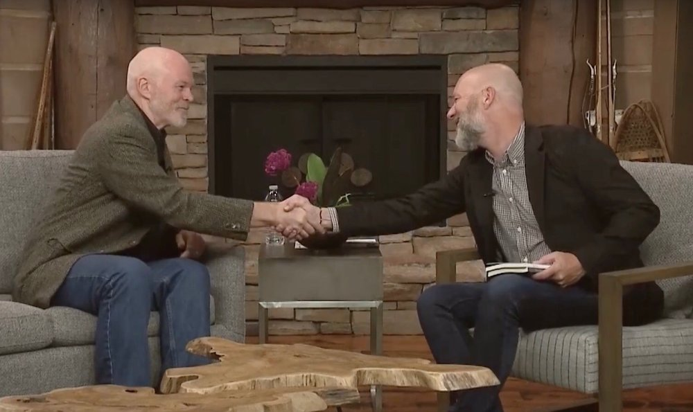 With Terry Burden on Mountain Views television show   Image courtesy of Park City Television