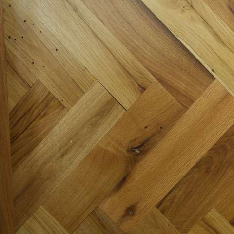 Reclaimed French Oak Parquet   Parquet flooring is an excellent way to add some authentic style to any room. Our range of Reclaimed and re milled French oak parquet is cut from ancient European oak beams, we always have an excellent supply of Chevron and Herringbone parquet