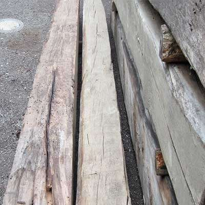 Reclaimed French Oak Beams Original Face   Retaining their original characteristics: cracks, worm holes and nail marks these reclaimed French oak beams create stunning and authentic elements that are completely unmatched by any new products
