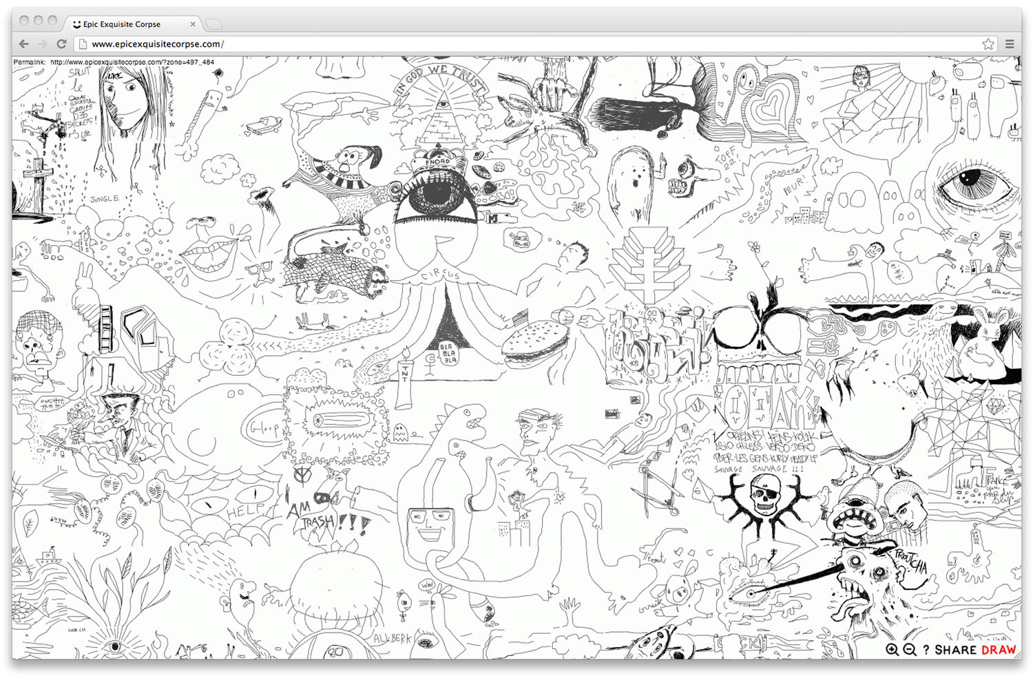 I designed and developed most of the website as a personal project to gain digital experience. It hosted more than 70 000 drawings from 172 countries and is one of the biggest collaborative artwork ever made.