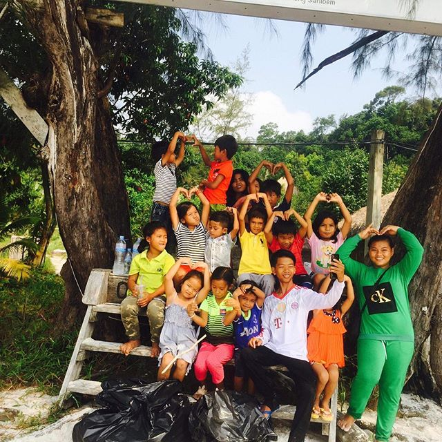 Feeling all the LOVE! Thank you island friends for spending #valentinesday to raise over $5000 towards #education Steps today create the path for these kids tomorrow ❤️ #kohrong #communitylove #bongs #bongsrey #cambodia #empower #bethechange