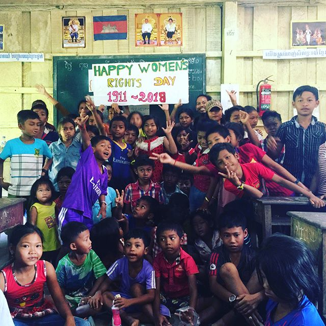 May we continue to empower one another, to live with freedom and equality 👫#internationalwomensday #genderequality #kohrong #cambodia #khmerwomen #educateanisland