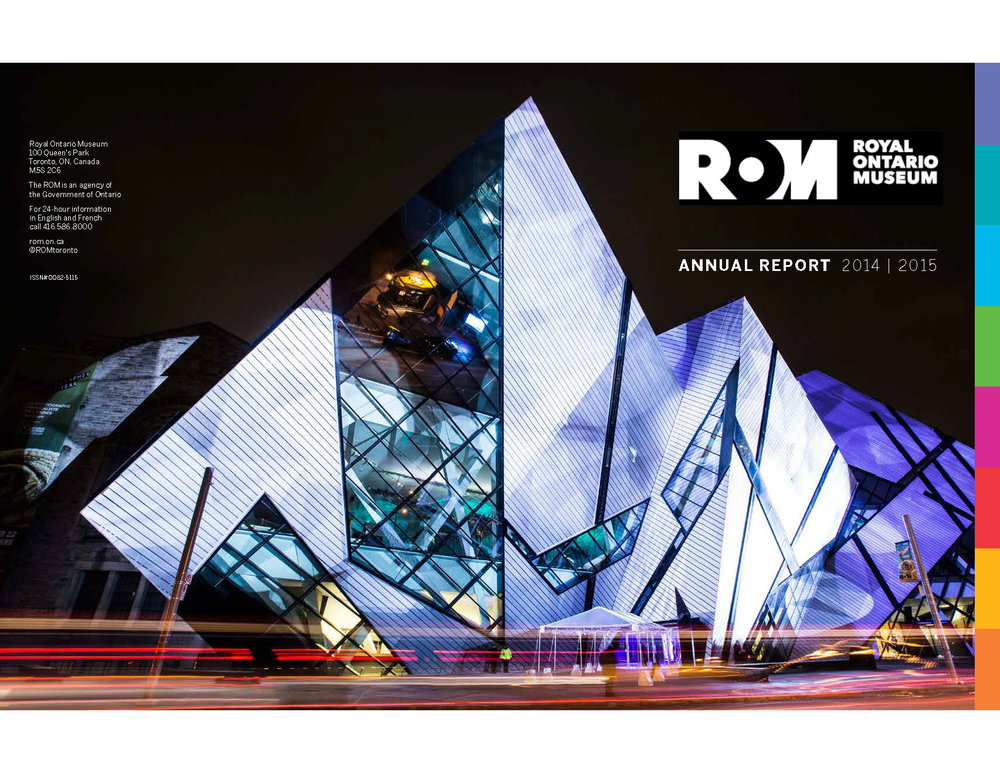 COPYWRITING & EDITORIAL PACKAGING: Royal Ontario Museum Annual Report