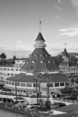 The iconic Hotel del Coronado, San Diego, California; the inspiration for the hapless Loe's Highport Marina clubhouse.