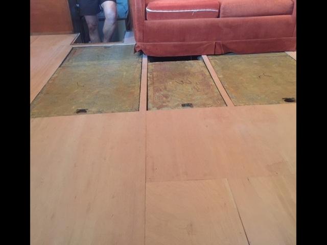 New deckhouse subfloor