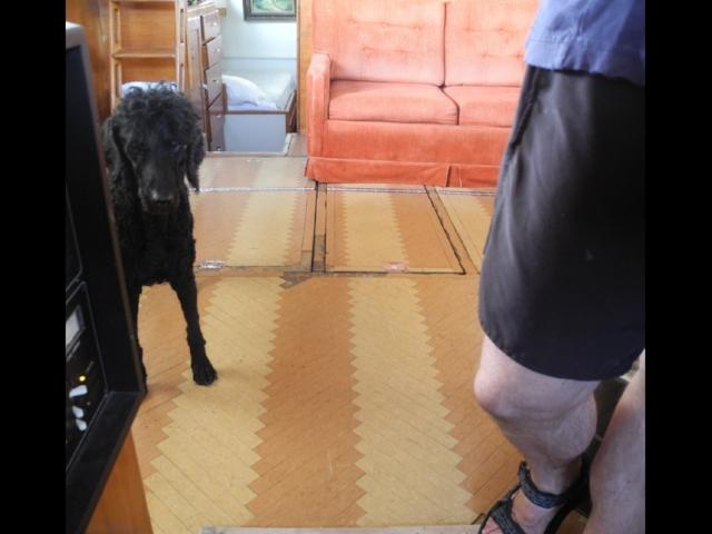 Old deckhouse floor
