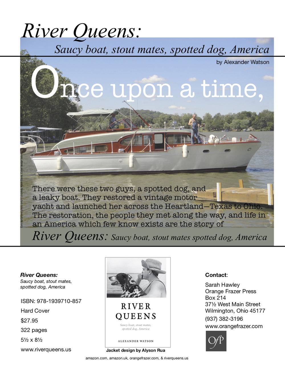 Sell sheet  for  River Queens: Saucy boat, stout mates, spotted dog, America