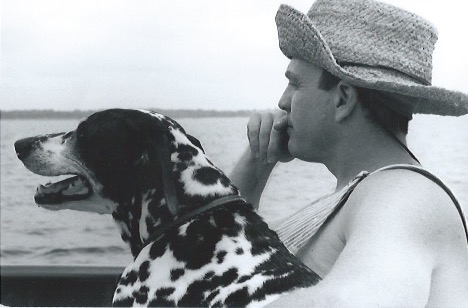 Doris Faye & Alexander Watson on the bridge of Betty Jane