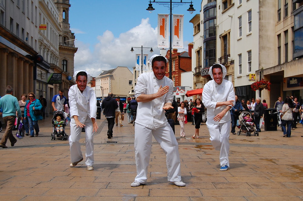 Guerilla Dancing Ginos in Cheltenham June 2011.JPG