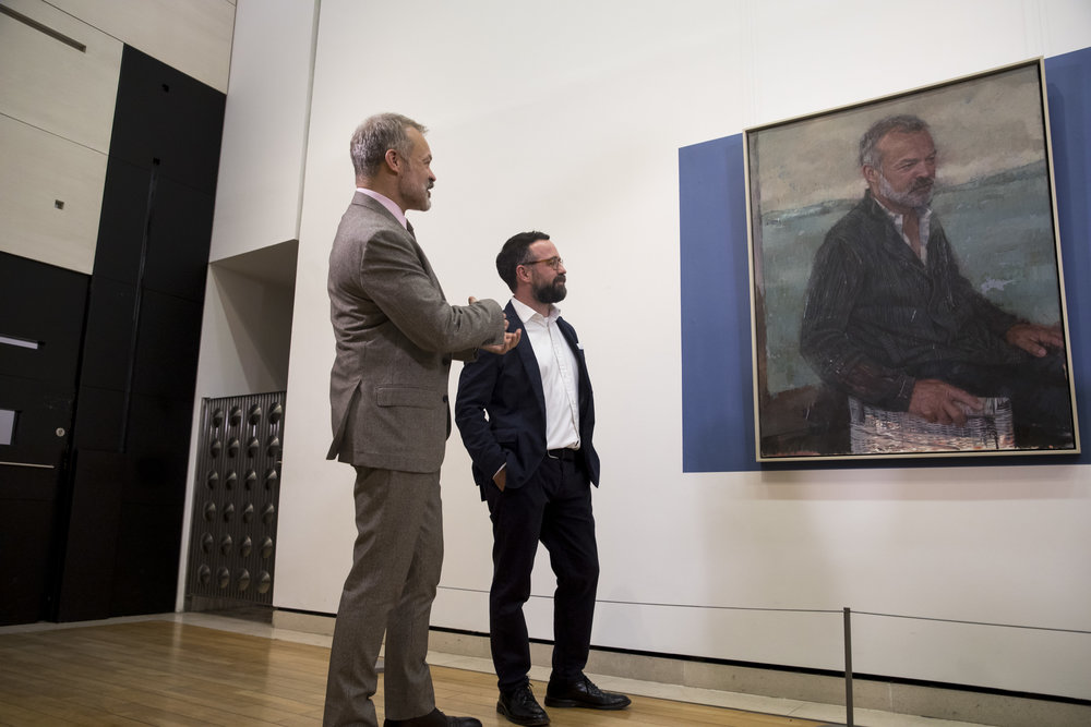 Graham Norton with 2017 Sky Arts Portrait Artist of the Year winner Gareth Reid. Over the course of our campaign, we discovered the two men were actually distant relatives!