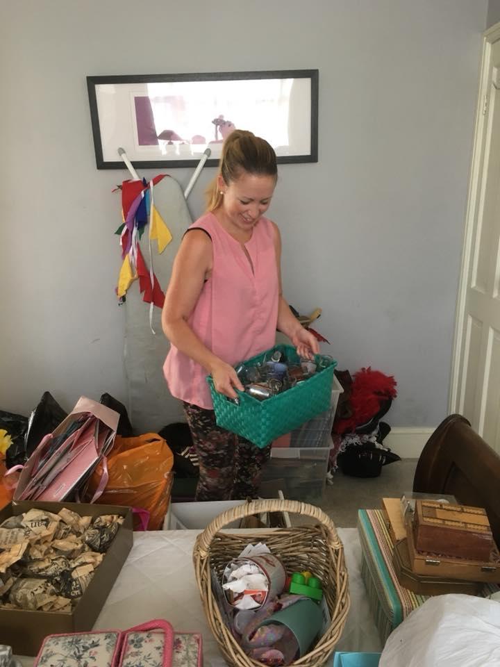 Katrina organising komono items