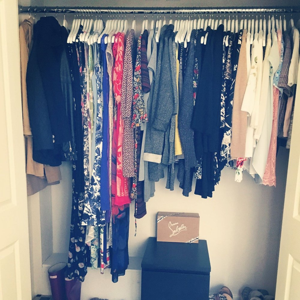 Katrina's wardrobe ~ organised using The KonMari Method™