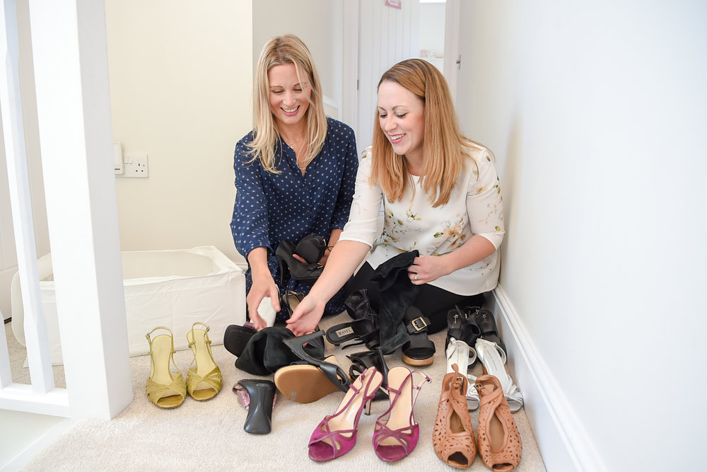 Katrina supporting a client with shoes ~ Andy Newbold Photography