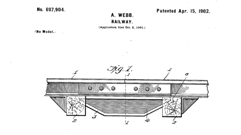 Official U.S. Patent, held by Alonzo Webb, my great-great grandfather