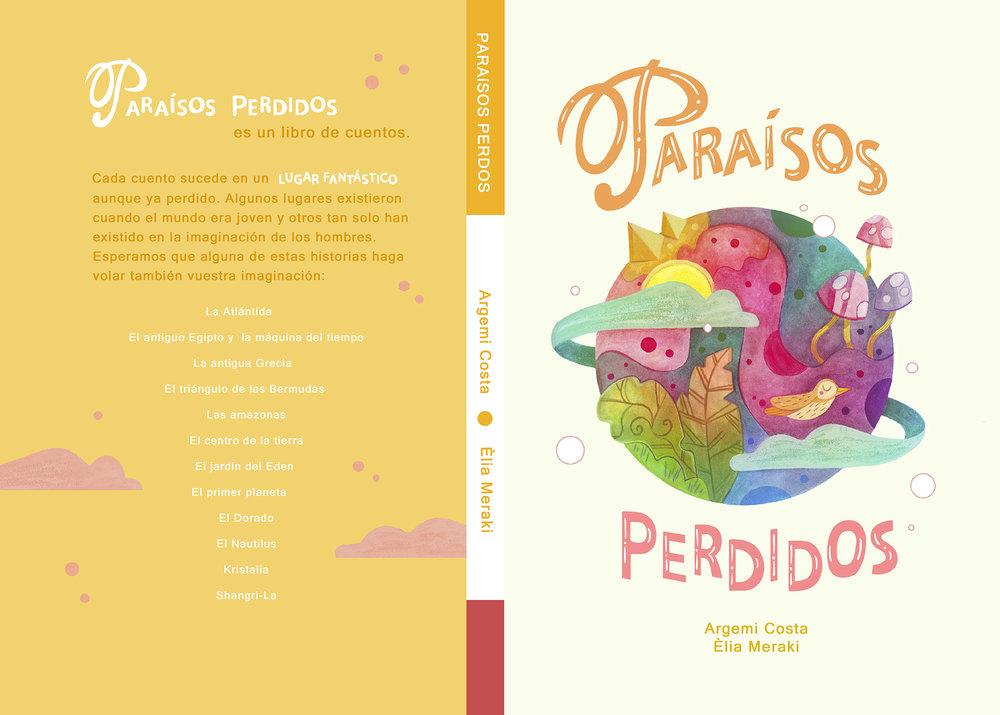 Diseño de Èlia Meraki, para el libro Paraisos perdidos