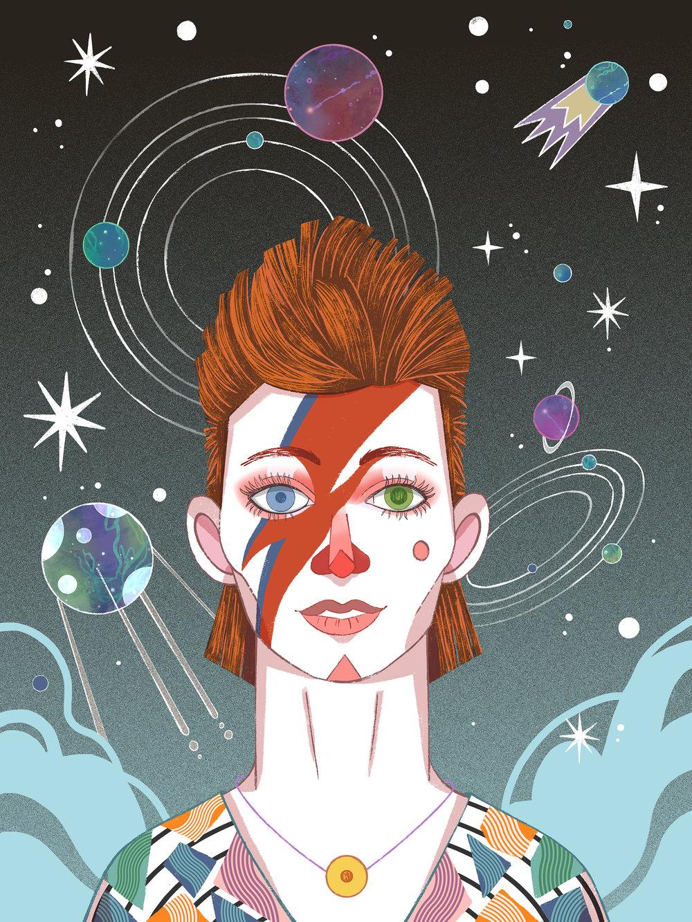David Bowie by Èlia Meraki