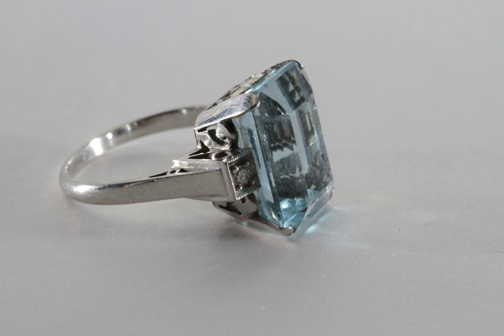 aquamarine in 14k gold