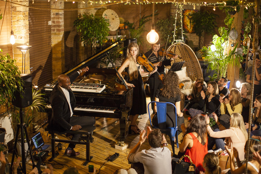 Okiem & his String Quartet: Laci Olah, violin; Justine Bui, violin; Jamie-Lee Glinsman, viola; Mariona De Lamo, cello