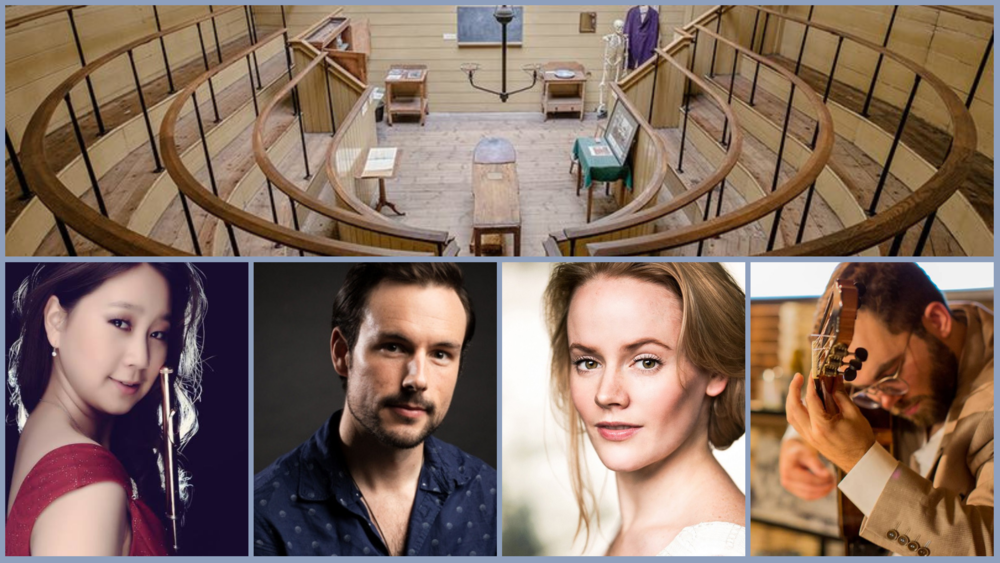 DEBUT at Old Operating Theatre | Kieran Rayner baritone  Lizzie Holmes soprano  Vicky Yuan-Labarre flute  Tiago Gomes classical guitar