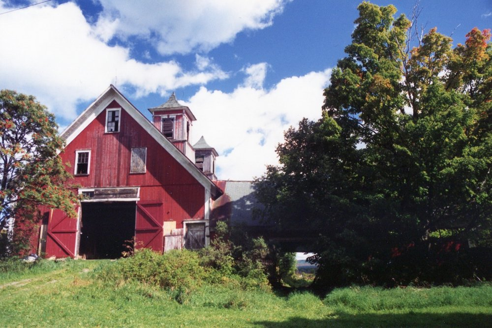 Turning Stone Farm - Around 1990, as the wilderness was taking over, Jennifer purchased the property. She immediately began the hard work of restoring and re-purposing the barn. Extensive work began on the foundation, historic post-and- beam structure, and cupolas.